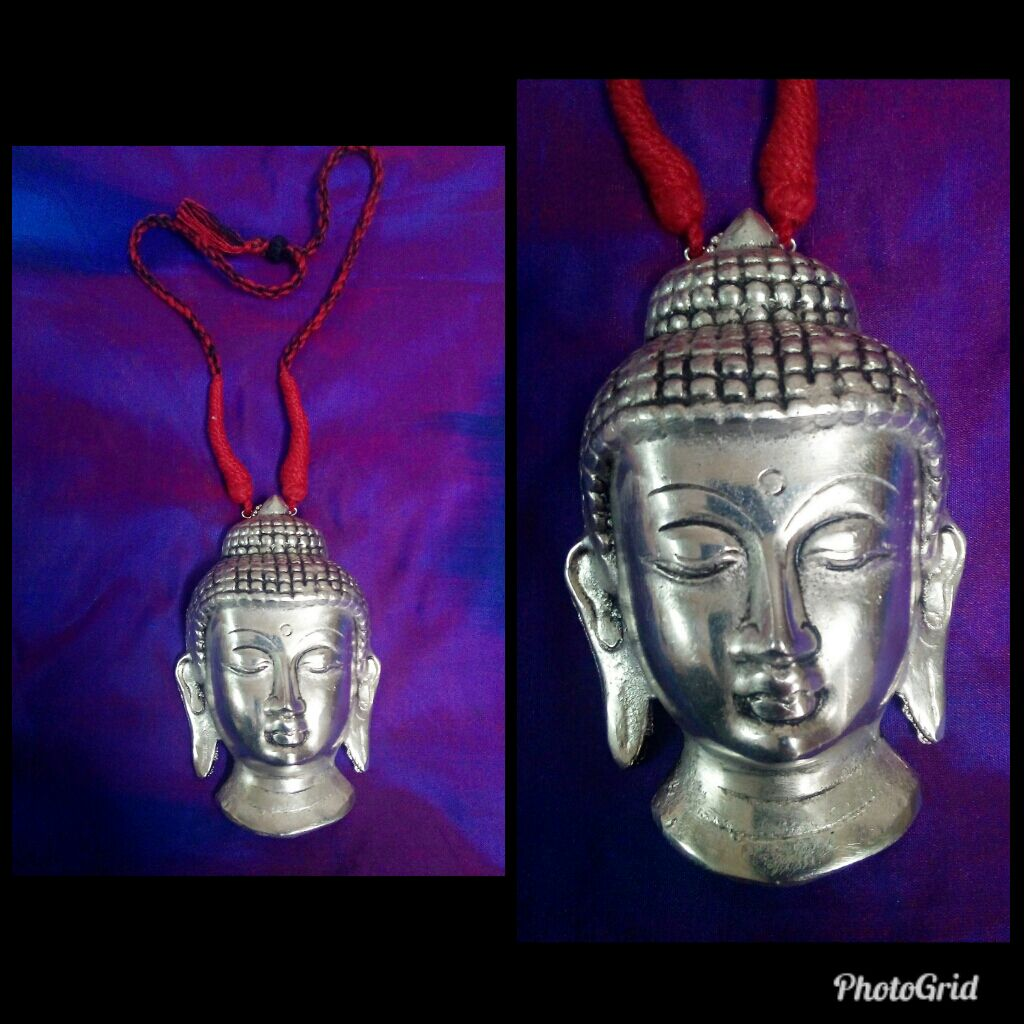 Oxidized Silver Finish With Buddha